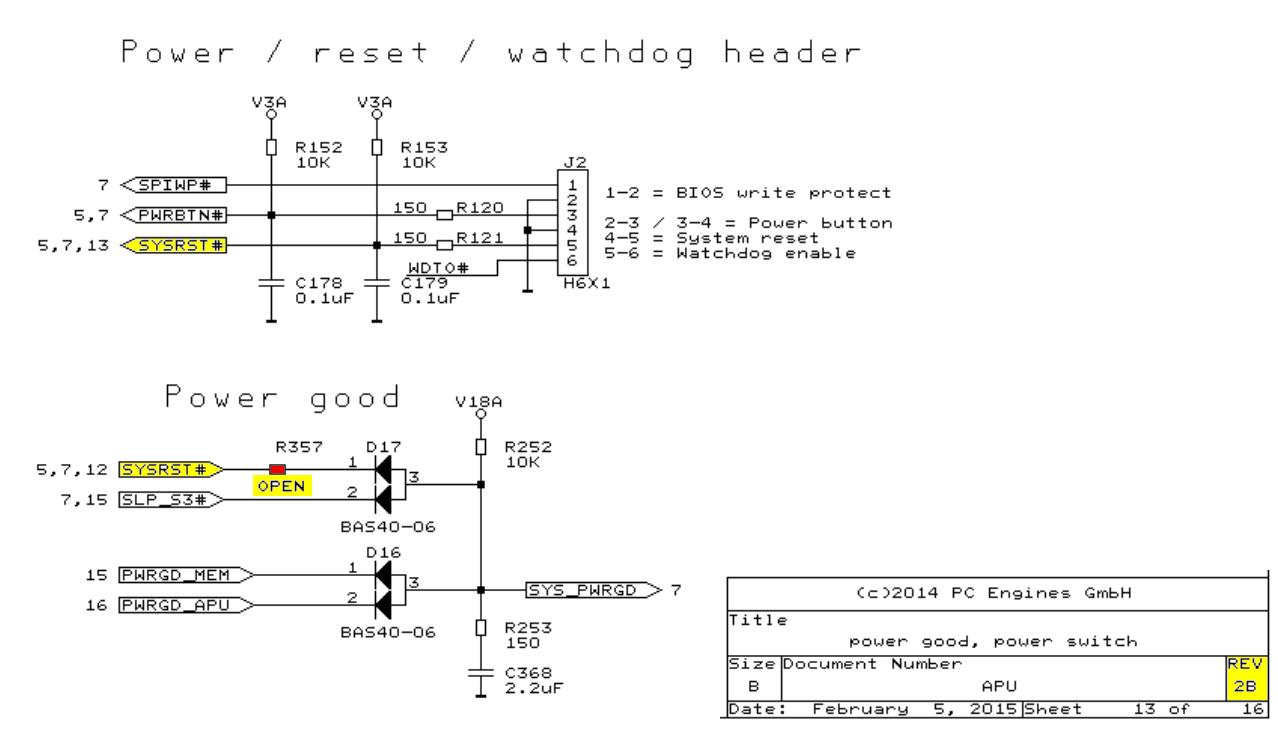 APU 2 Reset schematic