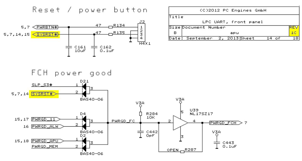 APU 1 Reset schematic